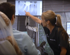 Dr. Wood Showing Root Canal XRay